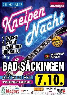 Poster: Kneipennacht Bad Säckingen