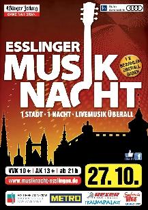 Poster: Musiknacht Esslingen