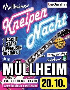 Poster: Kneipennacht Müllheim