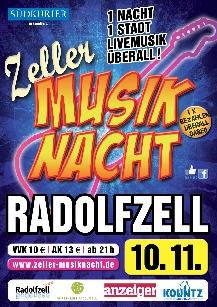 Poster: Zeller Musiknacht