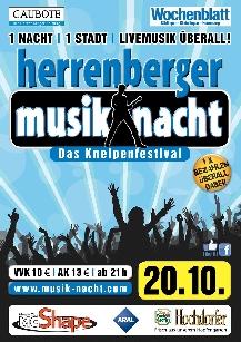 Poster: Musiknacht Herrenberg