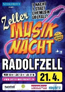 Poster: Zeller Musiknacht Radolfzell