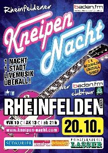 Poster: Kneipennacht Rheinfelden (Baden)