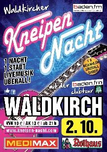 Poster: BADEN FM Partynacht Waldkirch