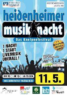Poster: Musiknacht Heidenheim