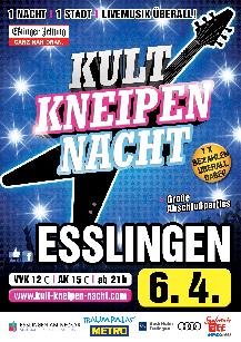Poster: Kultkneipennacht Esslingen