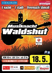 Poster: Musiknacht Waldshut