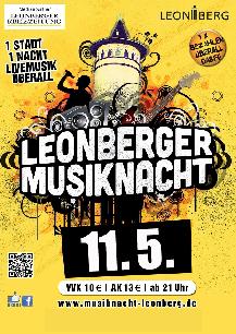 Poster: Musiknacht Leonberg