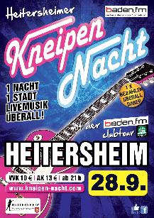 Poster: Kneipennacht Heitersheim